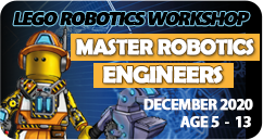 Master Robotics Engineers Lego Robotics Coding Winter Camp December 2020 for age 5 to 13