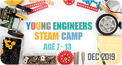 Young Engineers STEAM Design Thinking Invention Winter Camp December 2019